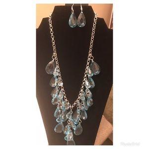 Gorgeous blue necklace.